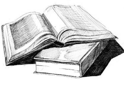 Картинки по запросу книги черно белые